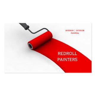 Pintor, pintura, arte, construcción, colores tarjetas de visita