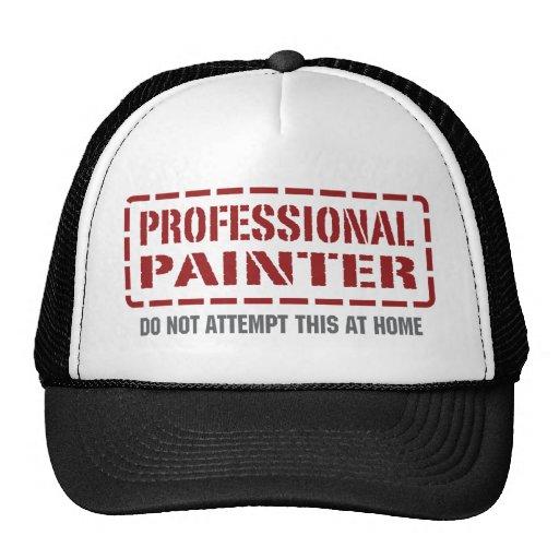 Pintor profesional gorros bordados
