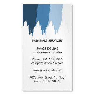 Pintor profesional modelado azul simple tarjetas de visita magnéticas (paquete de 25)