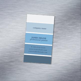 Pintor profesional rayado azul fresco tarjetas de visita magnéticas (paquete de 25)