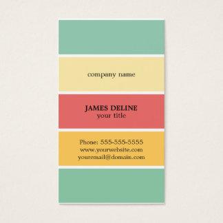 Pintor profesional rayado colorido fresco tarjeta de negocios