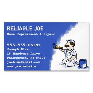 Pintor que pinta a la manitas azul de la pintura tarjetas de visita magnéticas (paquete de 25)