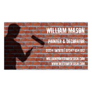 Pintor y decorador exteriores - tarjeta de visita