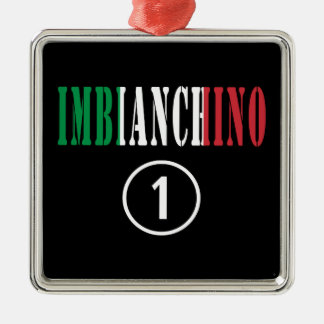 Pintores italianos: Uno de Imbianchino Numero Adorno Cuadrado Plateado