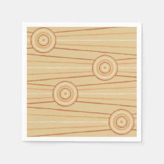 Pintura aborigen de la línea y del círculo servilleta de papel