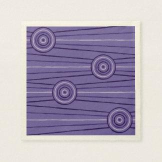 Pintura aborigen de la línea y del círculo servilletas de papel
