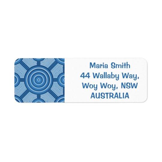 Pintura aborigen del punto etiquetas de remite