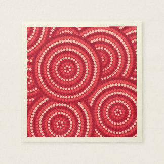 Pintura aborigen del punto servilleta de papel
