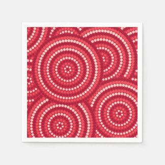 Pintura aborigen del punto servilleta desechable