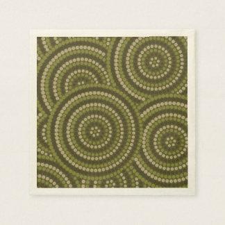 Pintura aborigen del punto servilletas de papel