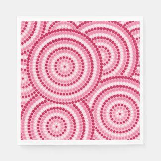 Pintura aborigen del punto servilletas desechables