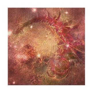 Pintura abstracta celestial impresión en madera