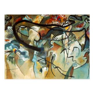 Pintura abstracta de la composición V de Kandinsky Postal