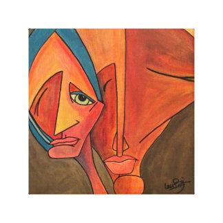 Pintura abstracta de la lona lienzo