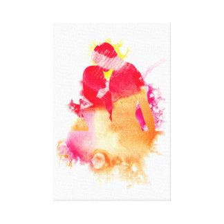 Pintura abstracta del amor impresión en lienzo