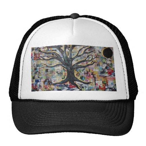 pintura abstracta del árbol gorra