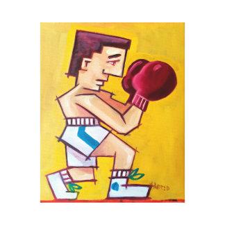 Pintura abstracta del boxeador en lona impresión en lienzo