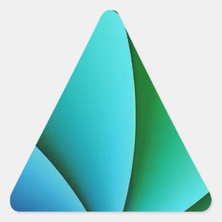 pintura abstracta del fondo pegatina triangular