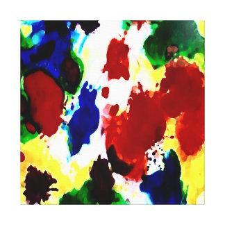 Pintura abstracta en lona lienzo