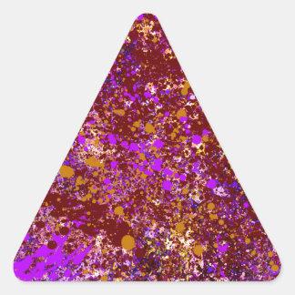 Pintura abstracta en lona pegatina triangular