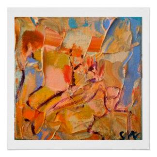 Pintura abstracta - impresión brillante 20 x 20 perfect poster