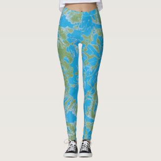 Pintura abstracta leggings