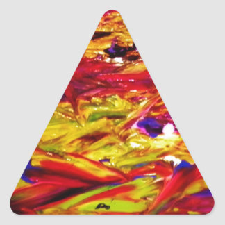 Pintura abstracta pegatina triangular