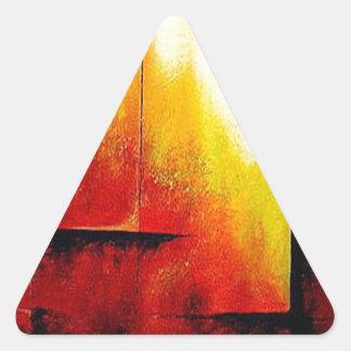 Pintura abstracta por Hizli Pegatina Triangular