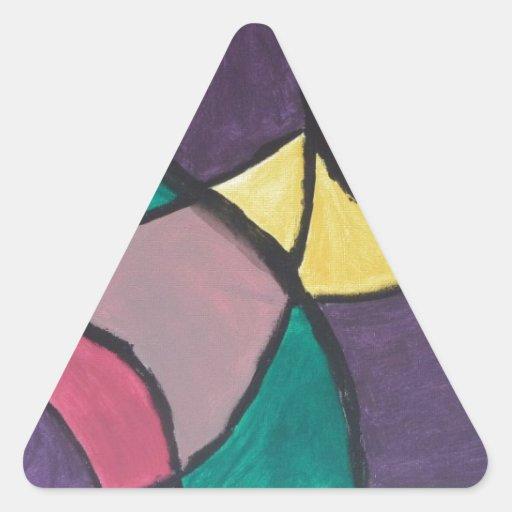 Pintura abstracta por s.b. Eazle Pegatina Triangulo