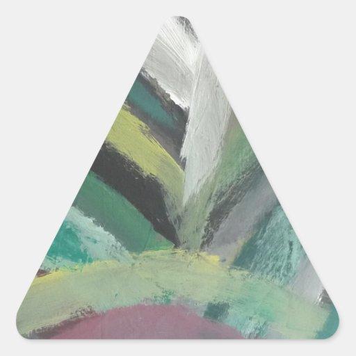 Pintura abstracta por s.b. Eazle Calcomanías Trianguloes