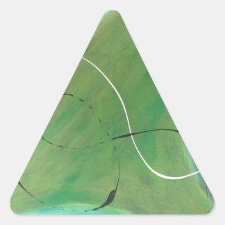 Pintura abstracta por s.b. Eazle Pegatina Triangular