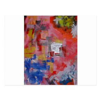 Pintura abstracta postal