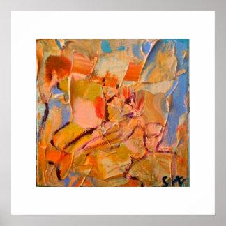 Pintura abstracta póster