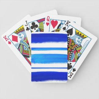Pintura abstracta retra azul baraja de cartas bicycle