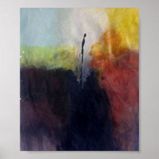 Pintura abstracta SOLA Póster