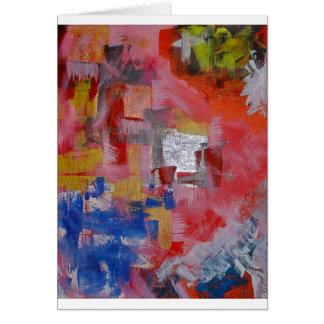 Pintura abstracta tarjeta de felicitación