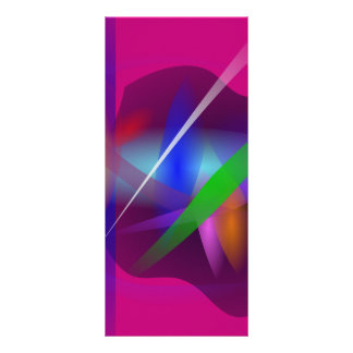 Pintura abstracta translúcida de alta calidad tarjeta publicitaria a todo color