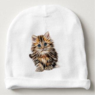 Pintura adorable del gatito gorrito para bebe