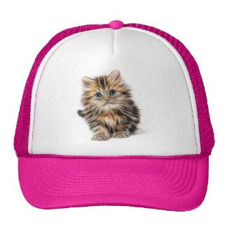 Pintura adorable del gatito gorro