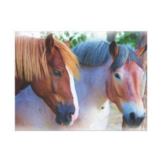 Pintura al óleo de los caballos lienzo