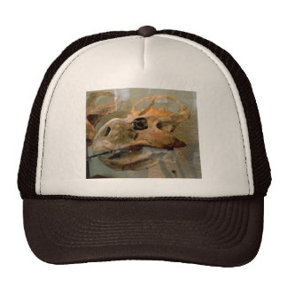 Pintura al óleo del cráneo de Dino Gorras