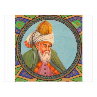 pintura al óleo del retrato del rumi postal