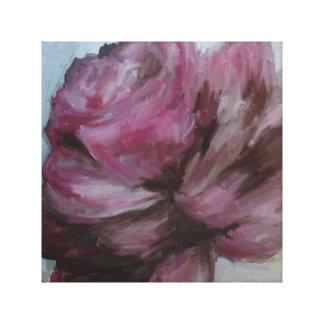 Pintura al óleo, lona, subió, flor impresión en lienzo