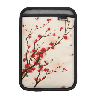 Pintura asiática del estilo, flor del ciruelo en funda para iPad mini