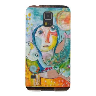 pintura asombrosa en su teléfono funda para galaxy s5