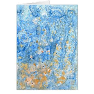 Pintura azul abstracta tarjeta de felicitación