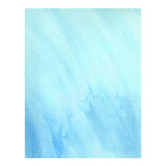 Pintura azul de la acuarela de la precipitación folleto 21,6 x 28 cm