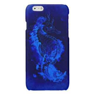 Pintura azul del Seahorse