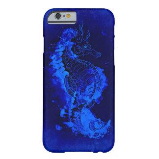 Pintura azul del Seahorse Funda Barely There iPhone 6