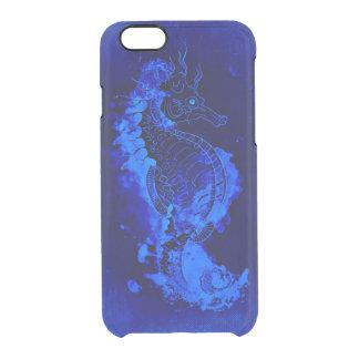 Pintura azul del Seahorse Funda Transparente Para iPhone 6/6s